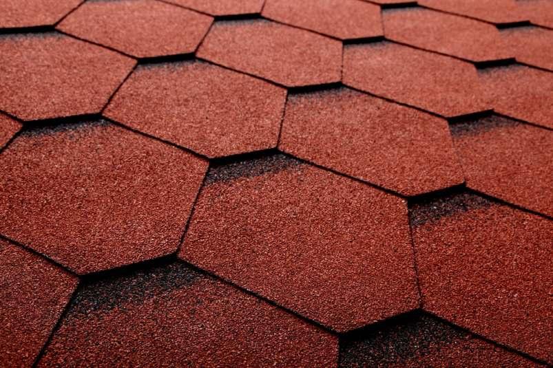 DachHolding bmiicopal Heksagonalny CM2 czerwony z czarnym podcieniem