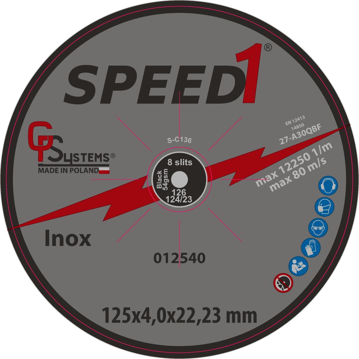 DachHolding gpsystems Speed1 - Tarcza do szlifowania 125x4,0x22,23