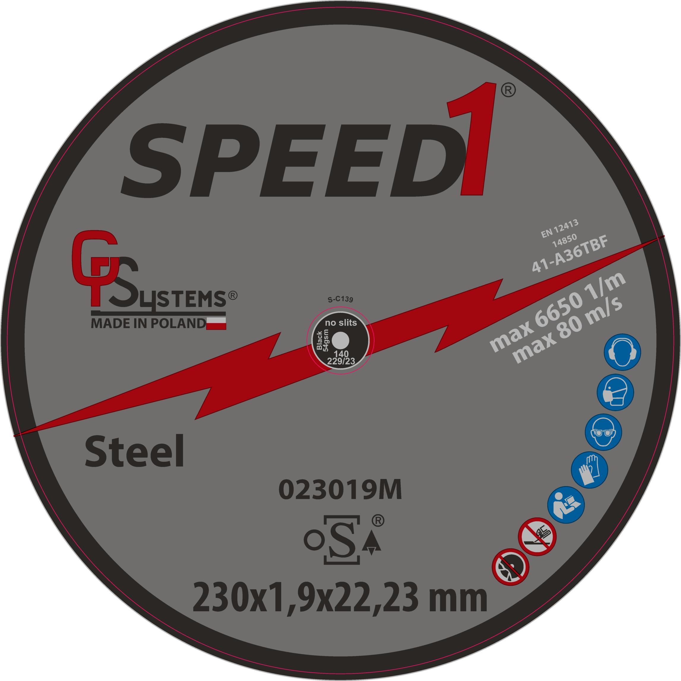 DachHolding gpsystems Speed1 - Tarcza do metalu 230x1,9x22,23 mm